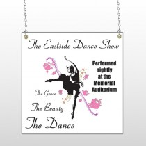 Ballet Dance 517 Window Sign