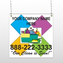 Cleaning Supplies 451 Window Sign