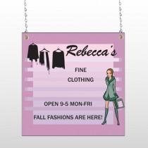 Fine Clothing 531 Window Sign