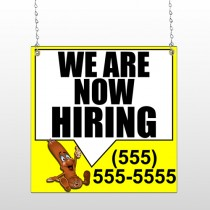 Hiring 54 Window Sign