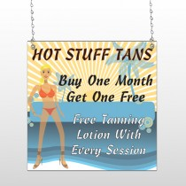 Hot Beach Tan 299 Window Sign
