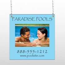 Paradise Pool 529 Window Sign