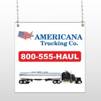 Tanker Truck 315 Window Sign