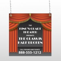Theatre Curtains 521 Window Sign