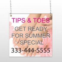 Tips & Toes 488 Window Sign