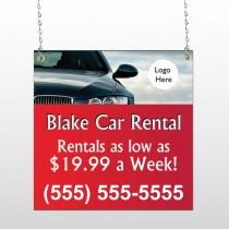 Car Rental 112 Window Sign