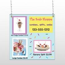 Ice Cream 374 Window Sign