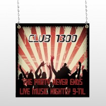 Night Club 523 Window Sign
