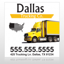 Yellow Truck 296 Custom Sign