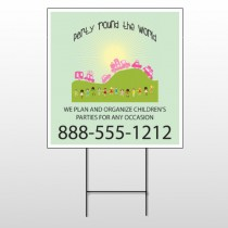 World Party Plan 520 Wire Frame Sign