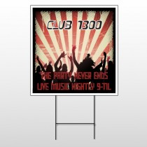Night Club 523 Wire Frame Sign