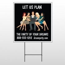 Party Planning 519 Wire Frame Sign