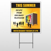 Television 525 Wire Frame Sign