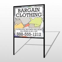 Bargain Bin 532 H Frame Sign