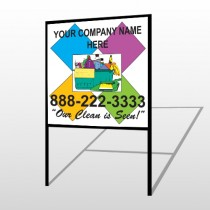Cleaning Supplies 451 H Frame Sign
