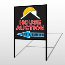 Auction Left Arrow 728 H-Frame Sign