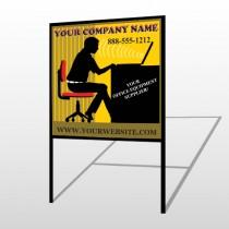 Office 149 H-Frame Sign