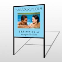 Paradise Pool 529 H-Frame Sign