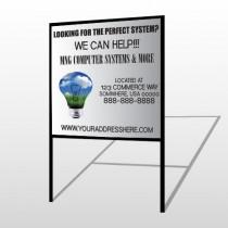 Scene Bulb 435 H Frame Sign
