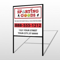 Sporting Goods 528 H Frame Sign