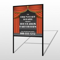 Theatre Curtains 521 H Frame Sign