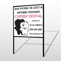 Winking Tooth 501 H Frame Sign