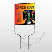 Dance Disco 518 Round Rod Sign