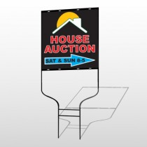 Auction Right Arrow 729 Round Round Sign