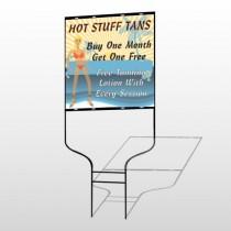 Hot Beach Tan 299 Round Rod Sign