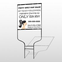 Pretty Girl Hair 290 Round Rod Sign