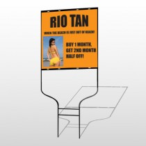Rio Tan Beach 489 Round Rod Sign