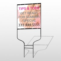 Tips & Toes 488 Round Rod Sign