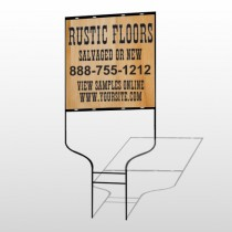 Wood Panel 248 Round Rod Sign