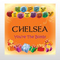Birthday Balloons 185 Custom Sign
