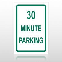 30 Min Parking 10011 Parking Lot Sign