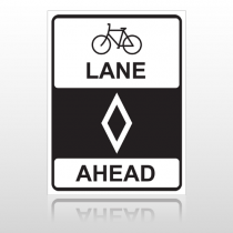 Bike Lane 10039 Road Sign