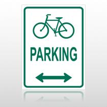 Bike Parking  10040 Parking Lot Sign
