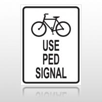 Bike Ped 10041 Parking Lot Sign
