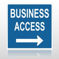 Bus Access 10054 Parking Lot Sign