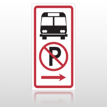 Bus 10064 Parking Lot Sign