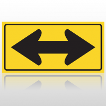 Directional Yellow 10007 Road Sign