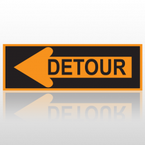 Left Arrow Detour 10100 Road Sign
