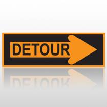 Right Arrow Detour 10101 Road Sign