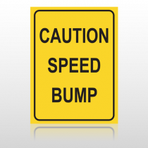 Speed Bump 10072 Road Sign