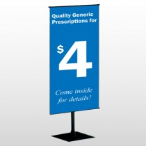 Pharmacy 102 Center Pole Banner Stand
