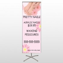 Nail Salon 291 Center Pole Banner Stand