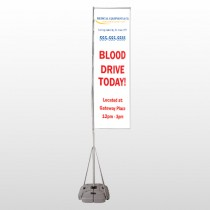 Blood Drive 97 Exterior Flag Banner Stand