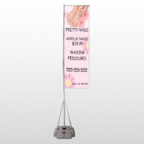 Nail Salon 291 Exterior Flag Banner Stand