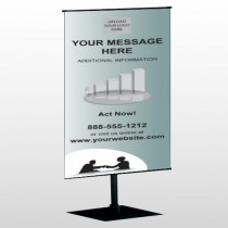 Bank 174 Center Pole Banner Stand