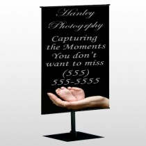 Flower 49 Center Pole Banner Stand
